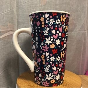 Floral Starbucks Ceramic Coffee Mug